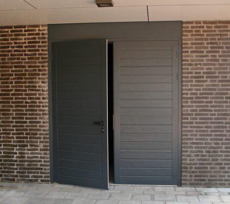 Bekend Openslaande garagedeur beschikbaar naar uw wensen via NNZI DM21